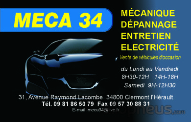 Pneu clermont l 39 herault garage meca 34 centre de for Garage ford clermont l herault